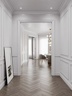 Home Room Design, Dream Home Design, Home Interior Design, Living Room Designs, Interior Architecture, Neoclassical Interior, Hallway Designs, Apartment Complexes, Home Living Room