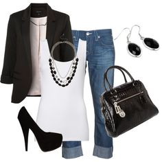 Cute  {A formal or dressy piece paired with casual wear is usually a good look. Just be careful to keep it balanced.}