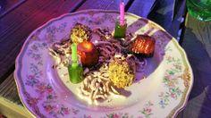 Verabschiedung aus der Küche...der kleinste Cocktail der Welt?, Panna Cotta Guglhupf und Kürbispraline.