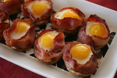 How cool are these? Breakfast Bacon Cups