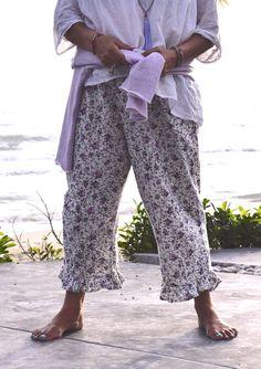 Spring Gypsy Flannie Bloomers, $99 AUD.   Ruffled bottom hem & deep side pockets plus a handy frilled pocket on the leg.