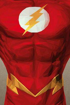 Amazing triangles illustration of the Flash by Flash Barry Allen, Heros Comics, Dc Heroes, Comic Books Art, Comic Art, O Flash, Univers Dc, Arte Dc Comics, Fan Art