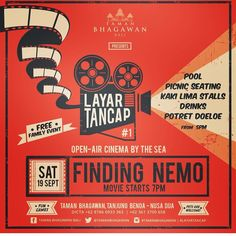 Hey Bali!  A movie by the sea?  Check this fun family event out @tamanbhagawan #mylittlesteps #bali #balitrip #baliisland