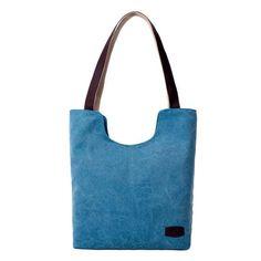 Brown gray blue Fashion Women Canvas Handbag Travel Shoulder Bags Vintage Causal Lady Handbags Shoulder Tote Bags Female Bolsa