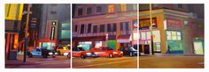 SF triptych Triptych, Paintings, Car, Automobile, Tri Fold Brochure, Paint, Painting Art, Painting, Drawings