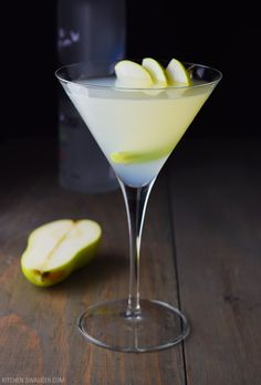 The pear and elderflower martini is a simple and refreshing cocktail consisting of pear vodka, elderflower liqueur, lemon juice, and simple syrup.