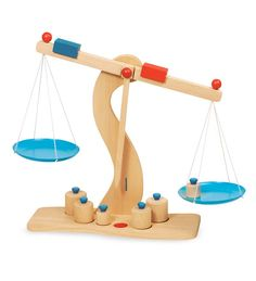 Wooden Toy Grocery Scales | Little Chef