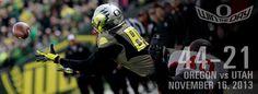 Oregon vs. Utah 2013 Football Facebook Cover Photo #GoDucks