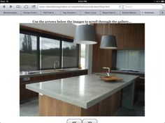 Natural stone grinders - concrete benchtop