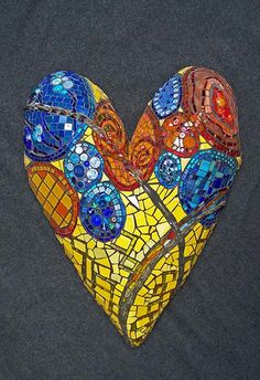 Mosaic heart ~  ♥ ♥ www.paintingyouwithwords.com