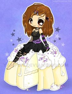 For Isn't it the best when someone asks you to do a commission as awesome as drawing a goth chibi in a delicious cake? Goth Chibi on a Cake Commish Anime Art Girl, Manga Art, Anime Girls, Kawaii Drawings, Cute Drawings, Chibi Food, Cute Girl Drawing, Chibi Girl, Image Manga