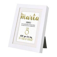 Cartão convite personalizado para moldura de madrinha de casamento. Customized invitation wedding card for photoframe to maid of honor.  #beapaper #maidofhonor #madrinha #casamento #wedding #photoframe
