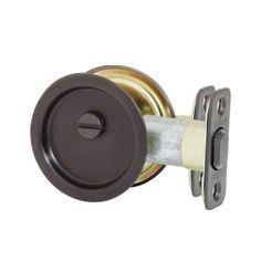 Kwikset Round Oil-Rubbed Bronze Hall/Closet Pocket Door Lock