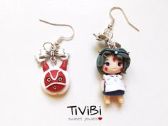 He encontrado este interesante anuncio de Etsy en https://www.etsy.com/es/listing/230849817/princess-mononoke-earrings-clay-charms