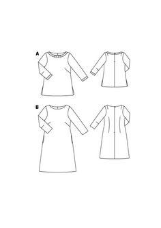 Boatneck shirt and dress-Burda Style Pattern