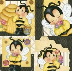 Pretty Drawings, Beautiful Drawings, Decoupage Vintage, Bug Crafts, Diy And Crafts, Cartoon Bee, Bee Party, Bee Jewelry, Cute Clipart