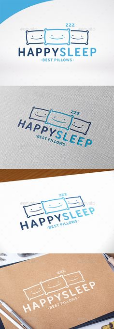 Happy Sleep Logo Template — Vector EPS #B&B #night • Available here → https://graphicriver.net/item/happy-sleep-logo-template/13536900?ref=pxcr
