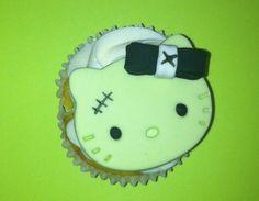 Frankenstein Hello kitty fondant cupcake toppers. Monster high, Frankie