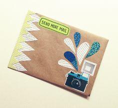 "OOAK Mail Art Piece - ""cheeeese"""