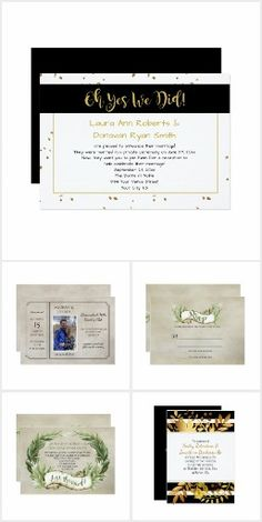 Reception Only / Post Wedding Invitations