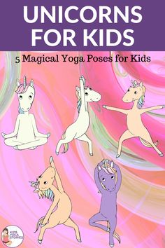 Magical and fun unicorn yoga poses for kids! Try one, try them all! Kids Yoga Stories #kidsyogastories #kidsyoga #yogaforkids #unicorn #yogainschool #homeschooling Kids Learning Activities, Classroom Activities, Gross Motor Activities, Yoga Poses, Yoga Sequences, Animal Yoga, Yoga Themes, Yoga Lessons, Kids Moves