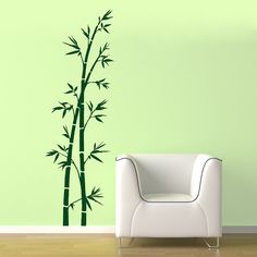 bamboo wall decal for baby panda room
