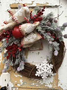 Christmas Wreath for Front Door Holiday Wreath by FlowerPowerOhio