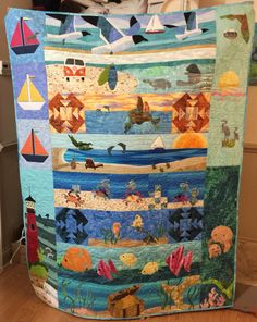 Front of my 2015 Row by Row Quilt