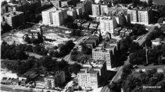 Inwood rises around the Seaman Mansion on Park Terrace. Aerial photo, 1937.