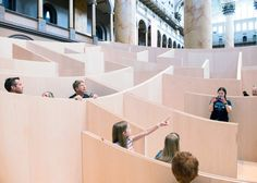 BIG's concave wooden maze installed within Washington's National Building Museum remains popular with readers this week.