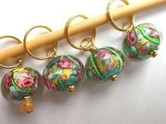 Knitting Stitch Markers  Summer meadow   by ChickenStitches, $10.00