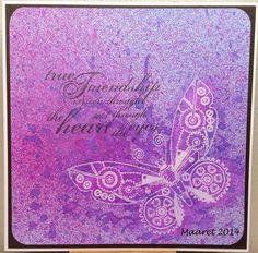 Embossattu perhonen,  Chocolate Baroque -  butterfly
