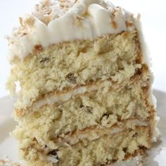 """Pinner Wrote: """"italian Cream Cheese Cake. My Mom Sold Cakes. This Was A Favorite. I Searched Until I Found The Exact Recipe. This Is The Most Delicious Italian Cream Cheese Cake I've Ever Eaten!!!"""" What's More, It's The Simplest Recipe For This Cake Out There."""