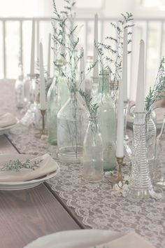 Lovely and simple table decor.