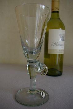 Weißweinglas mit Stiel in Elefantenform Form, Flute, Africa, Glitter, Glasses, Tableware, Elephants, Wine, Handmade