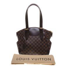 Authentic Louis Vuitton Damier Ebene Canvas Verona MM Tote Bag #LouisVuitton #ToteBag