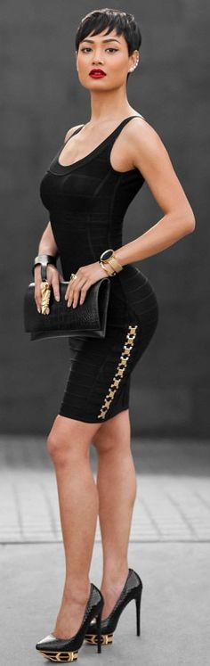 Black And Gold Chic And Easy Outfit Idea by Micah Gianneli