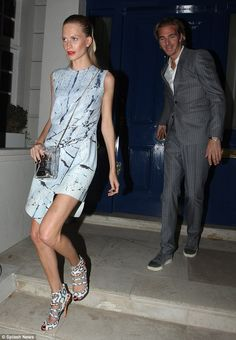 Date night: Poppy was joined by her husband James Cook on Friday evening