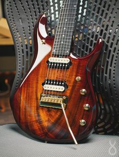 7 string guitar wood beauty