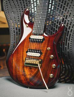 7 string guitar wood beauty