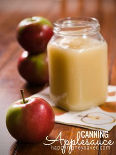 Good Enough to Eat: Easy Autumn Applesauce - It's Fitting It's Fall and it's Apple Season! Get out there, pick some apples and make the easiest applesauce recipe EVER.<br> The easiest applesauce you'll ever make! Canned Applesauce, Homemade Applesauce, Unsweetened Applesauce, How To Can Applesauce, Canning Tips, Home Canning, Canning Recipes, Links Of London, Apple Recipes