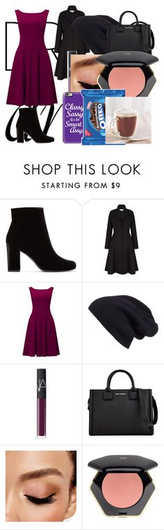 """Winter outfit"" by blueberrysnoww ❤ liked on Polyvore featuring Yves Saint Laurent, Phase Eight, Halogen, NARS Cosmetics, Karl Lagerfeld, Avon, H&M and Casetify"