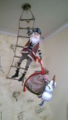 Christmas And New Year, Simple Christmas, Christmas Crafts, Merry Christmas, Christmas Decorations, Ded Moroz, Felt Christmas Ornaments, Magical Creatures, Art Dolls