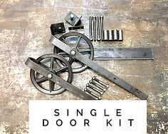 Sliding-Barn-Door-Hardware-Track-Roller-Kit-Rustic-Raw-Steel-Vintage-Industrial