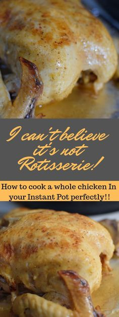 The best Instant Pot whole chicken recipe that is easy and quick to make. Also, Pressure cooker chicken cooking times and Rotisserie Chicken Rub Recipe all in one place. Instant Pot chicken is fall off the bone tender. You will not make a better chicken i Crock Pot Recipes, Rub Recipes, Best Chicken Recipes, Cooking Recipes, Healthy Recipes, Easy Recipes, Keto Recipes, Dinner Recipes, Delicious Recipes
