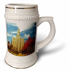 Jos Fauxtographee Realistic - The St. George LDS Temple in Utah Edited in an Older Looking Color Palette with Vivid Reds and Blue - 22oz Stein Mug (stn_47504_1) 3dRose http://www.amazon.com/dp/B0147M75BI/ref=cm_sw_r_pi_dp_0n5Zwb1KJVYW7