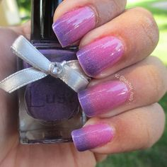 Thermal polish, goes from pink (warm) to purple (cold) and has a really nice shimmer