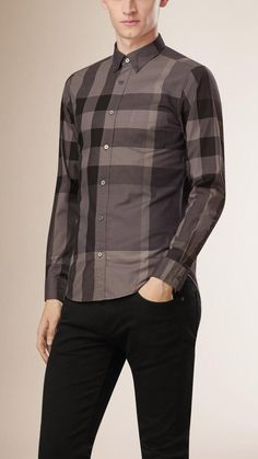 Burberry Brit Giant Exploded Check Cotton Shirt
