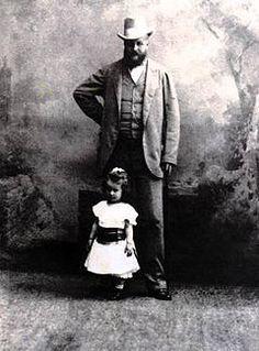 Hr. Karol Lanckoroński z córką Karoliną.