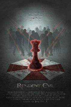 Another alternative movie poster. 'The Red Queen'! This time for 2002's 'Resident Evil'. by Digital Theory.